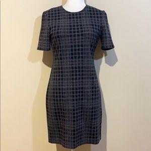 Theory Black Rijik Structured Knit Sheath Dress 4